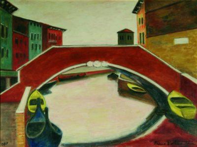 Rio San Raffaele con ponte e torre di San Nicolò dei Mendicoli