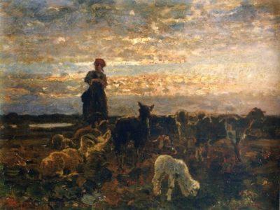Pastorale al tramonto