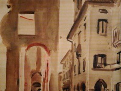 Case bombardate in Via Carlo Alberto