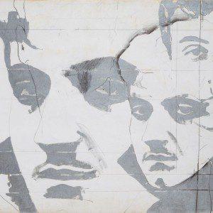 Giosetta Fioroni , Ritratto di Goffredo Parise, 1966. Tecnica mista su tela, cm. 50 x 70. Roma, proprietà dell'artista.